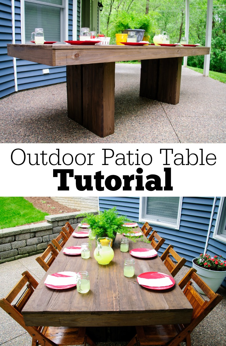 Outdoor Patio Table Tutorial | Decor And The Dog