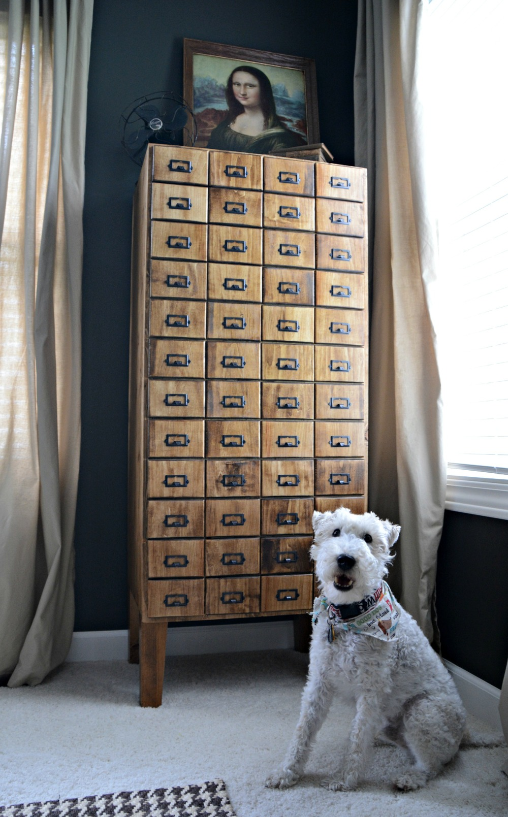 DIY Card Catalog Cabinet Reveal | Decor and the Dog