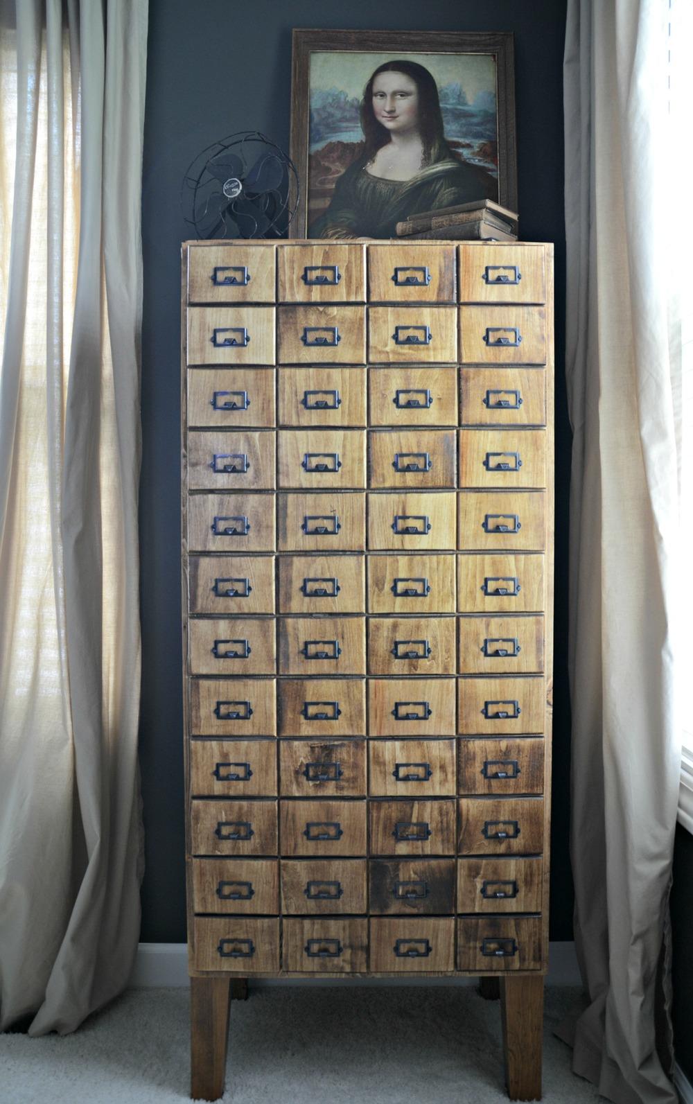DIY Card Catalog Cabinet Tutorial | Build your own card catalog!