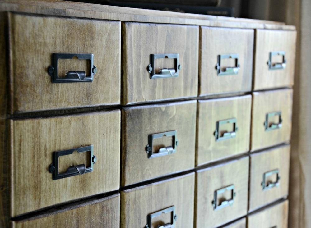 DIY Card Catalog Cabinet Tutorial