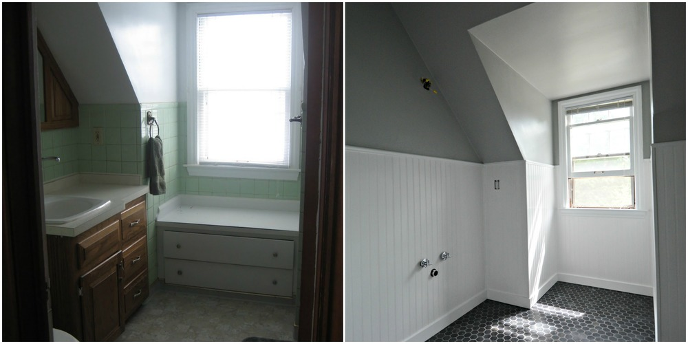 Before + During Bathroom Remodel