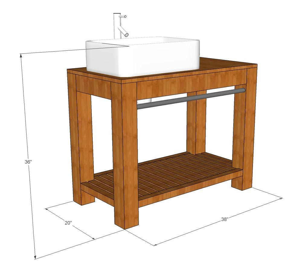 Modern farmhouse bathroom vanity tutorial decor and the dog for Bathroom vanity drawings