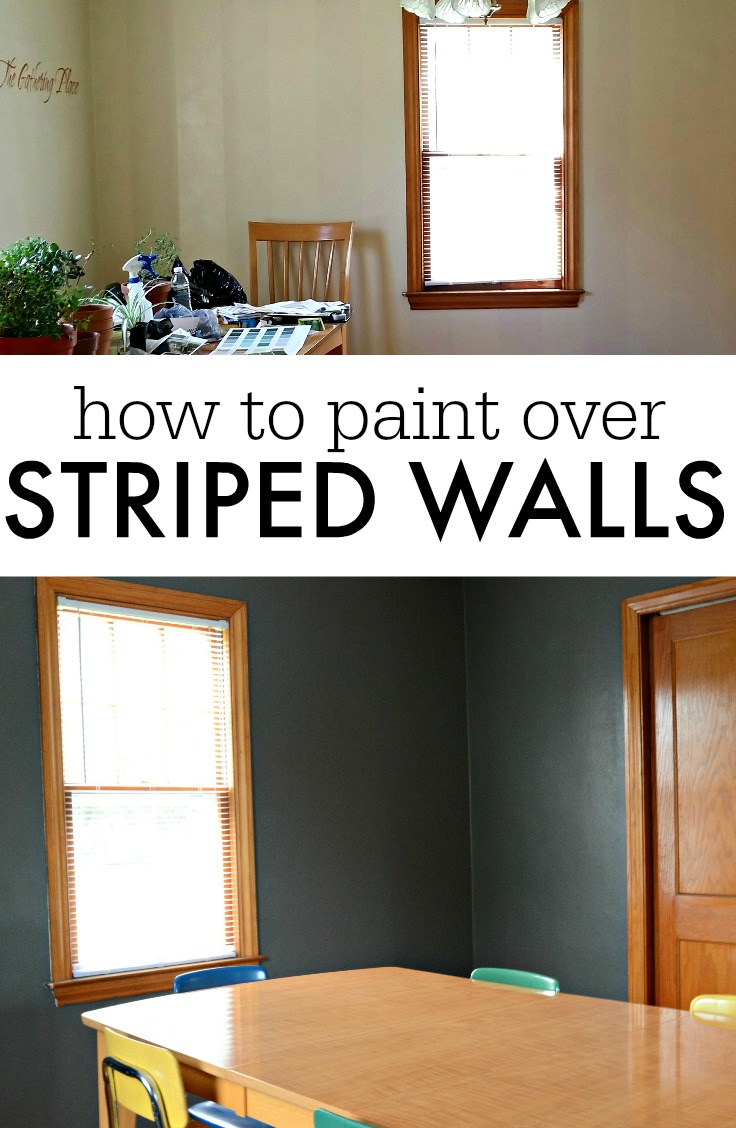 How to Paint Over Striped Walls with Different Finishes.  Learn how!