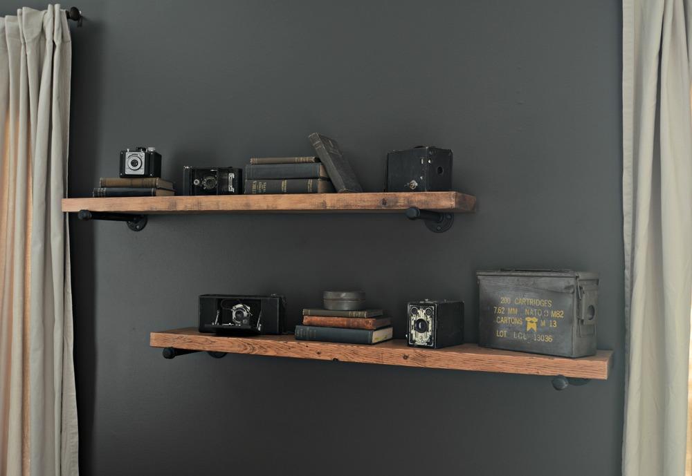 DIY Industrial Shelving Tutorial/ BLACK+DECKER Autosense Drill Giveaway