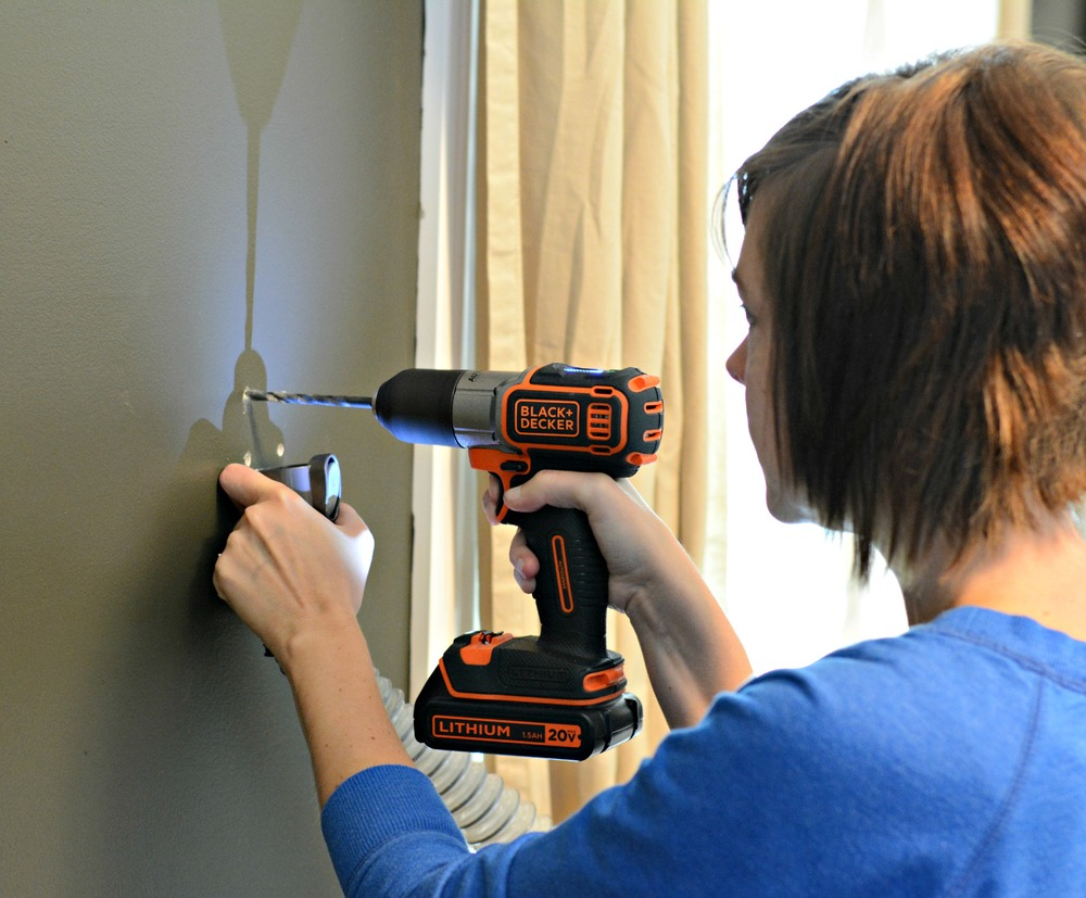 DIY Industrial Shelving Tutorial/BLACK+DECKER Autosense Drill Technology