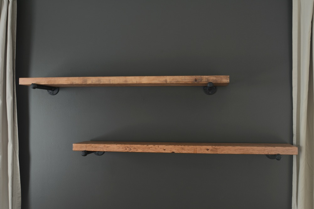 black wooden shelves 2