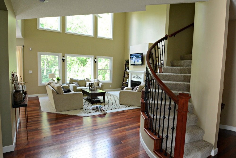 Painting a Two Story Living Room