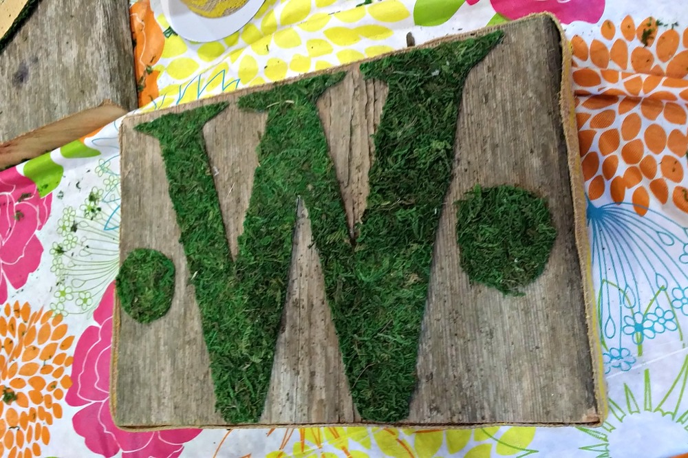 Craft Night {Moss and Barn Wood}