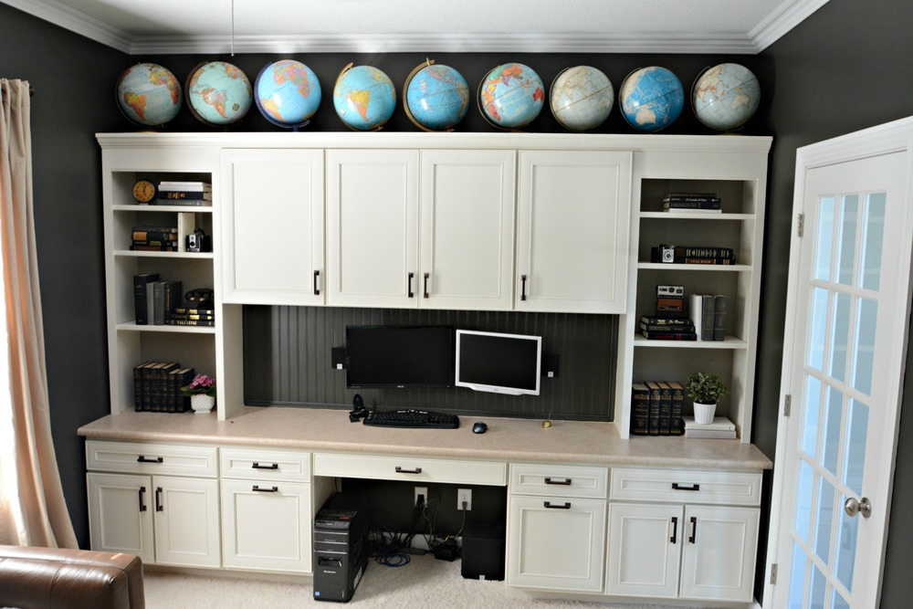 Office Built-ins with Globe Collection