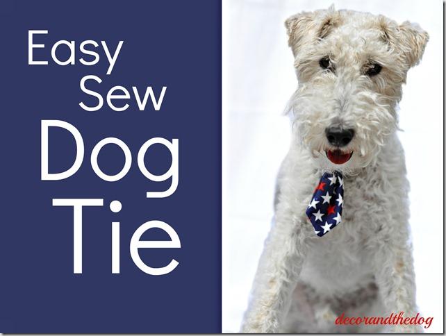 Easy Sew Dog Tie Tutorial