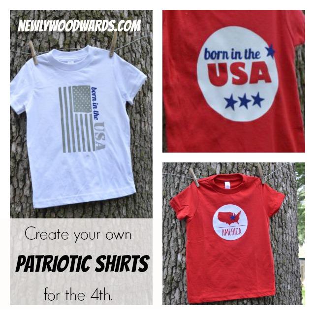 Patriotic shirts {NewlyWoodwards}