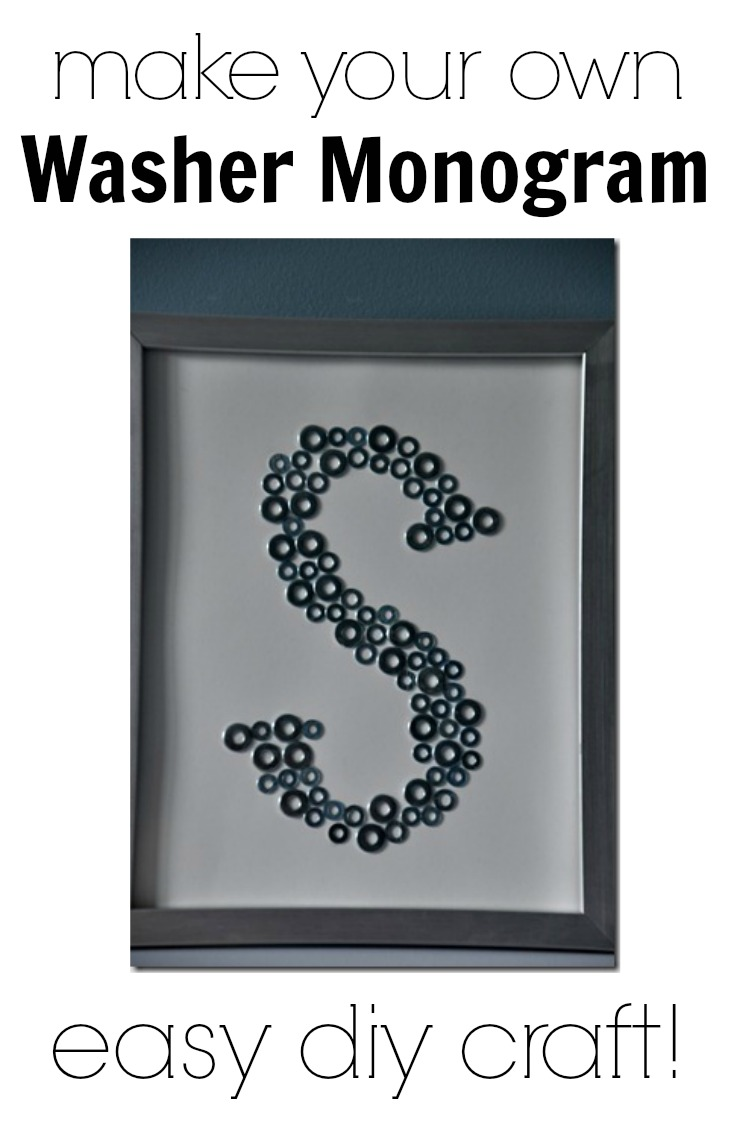 Make your own Washer Monogram. Easy and inexpensive craft.  Great idea for craft night!