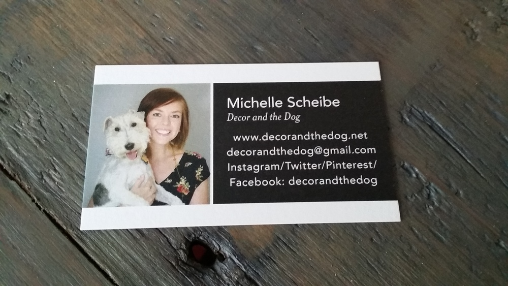 Business Cards for Important People — Decor and the Dog