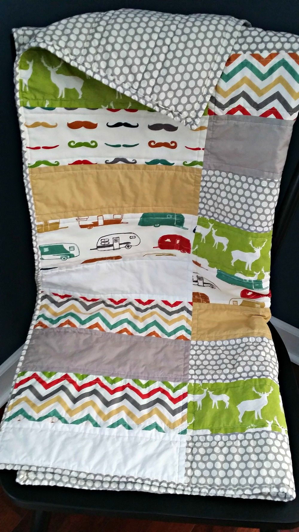 Hipster Baby Quilt {Gender Neutral Quilt}