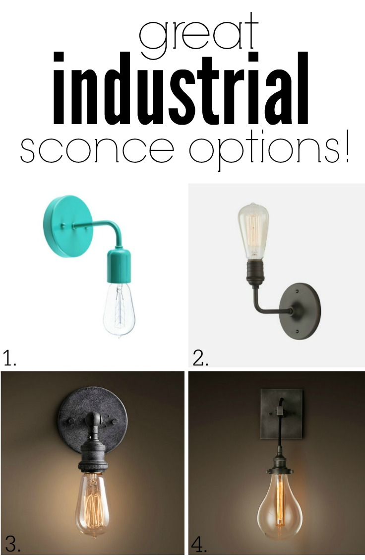 1. Barn Light Electric 2. Schoolhouse Electric 3. Restoration Hardware 4. Restoration Hardware