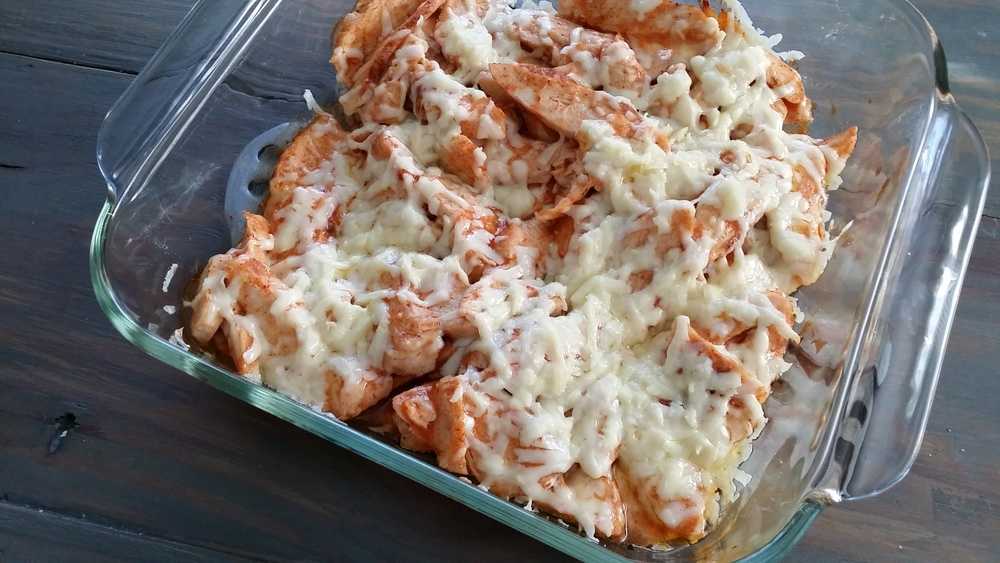 Easy enchilada chicken. A great weeknight meal.