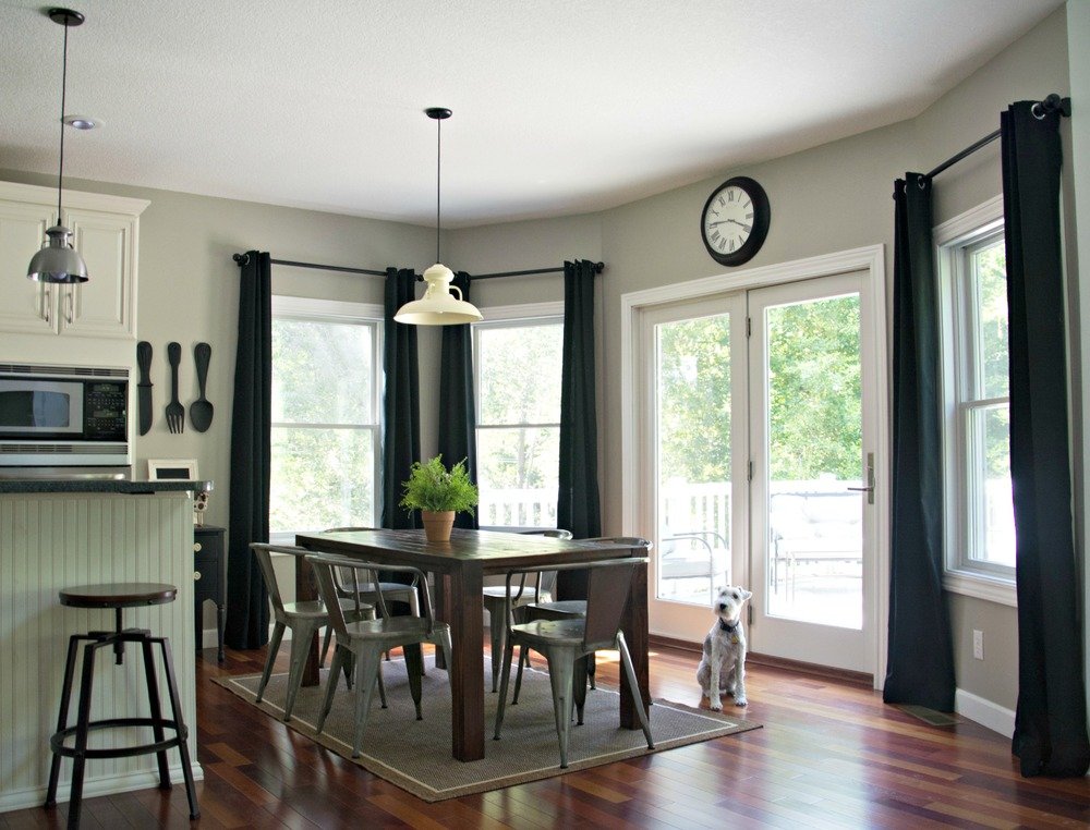 Black Curtains in Kitchen