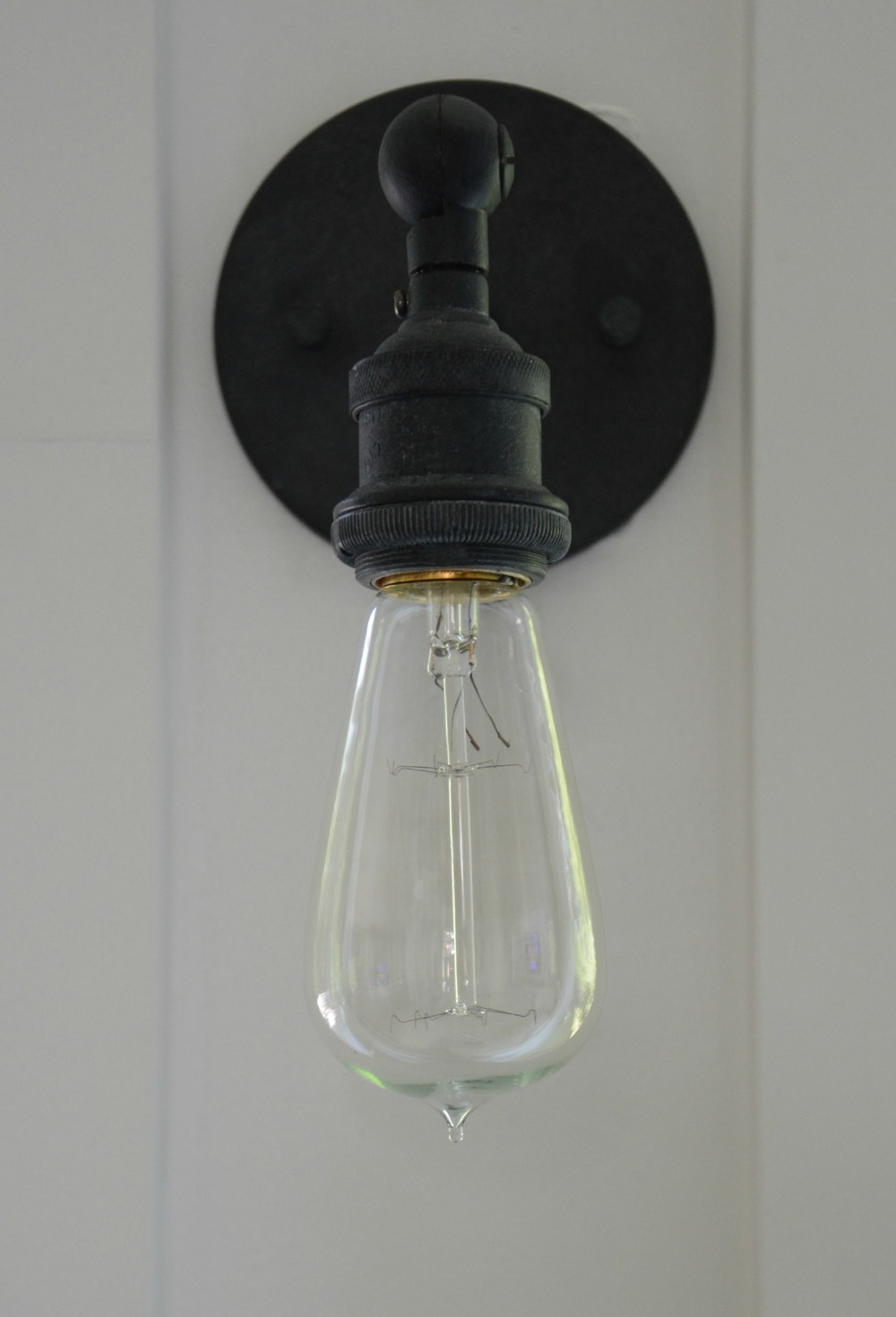 Restoration Hardware 20TH C. FACTORY FILAMENT BARE BULB SCONCE - WEATHERED ZINC