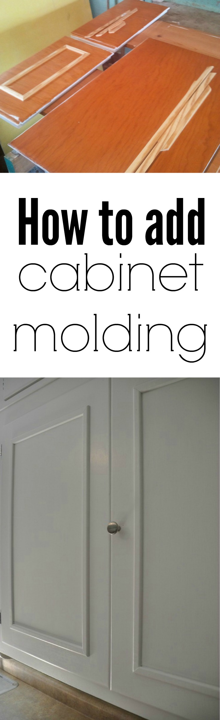 How To Add Cabinet Molding Decor And The Dog