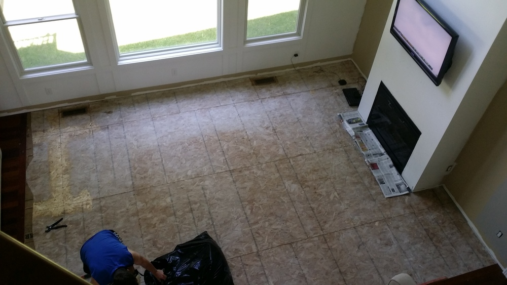 Removing living room carpet