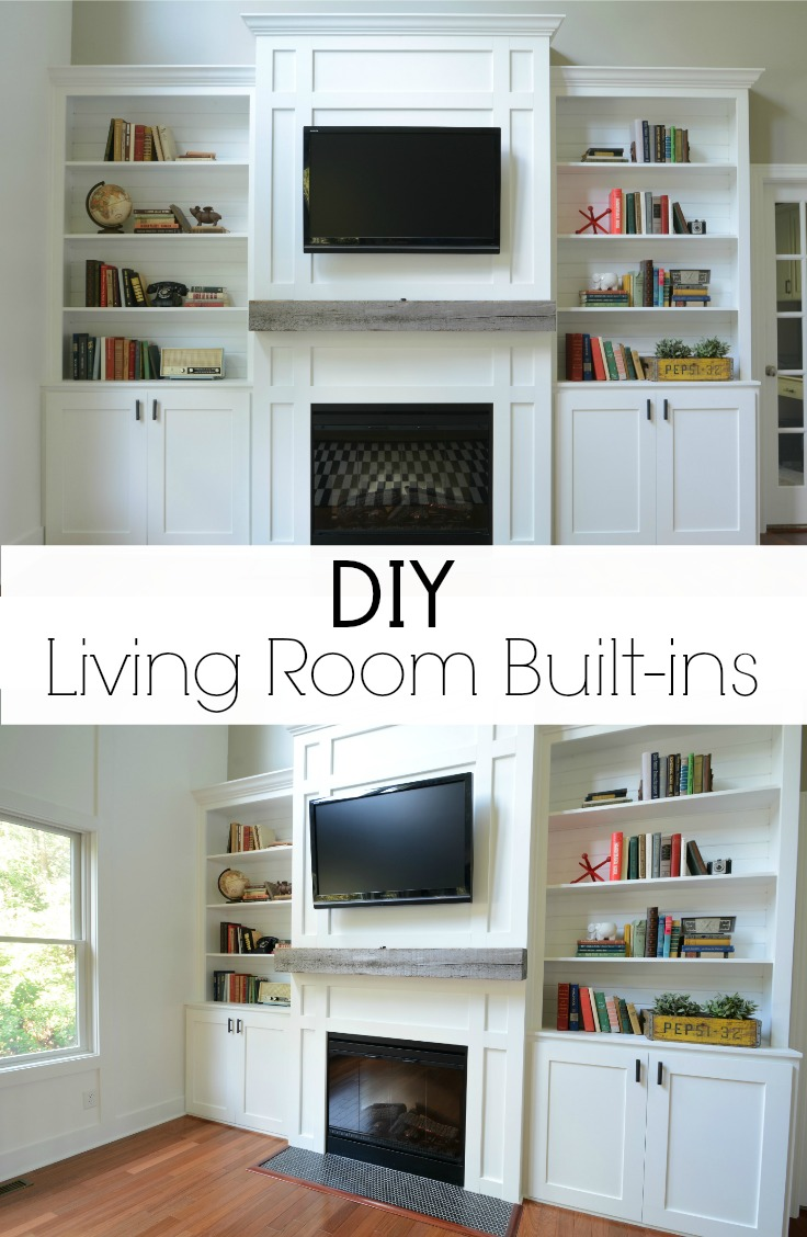 Living Room Built-In Cabinets — Decor and the Dog