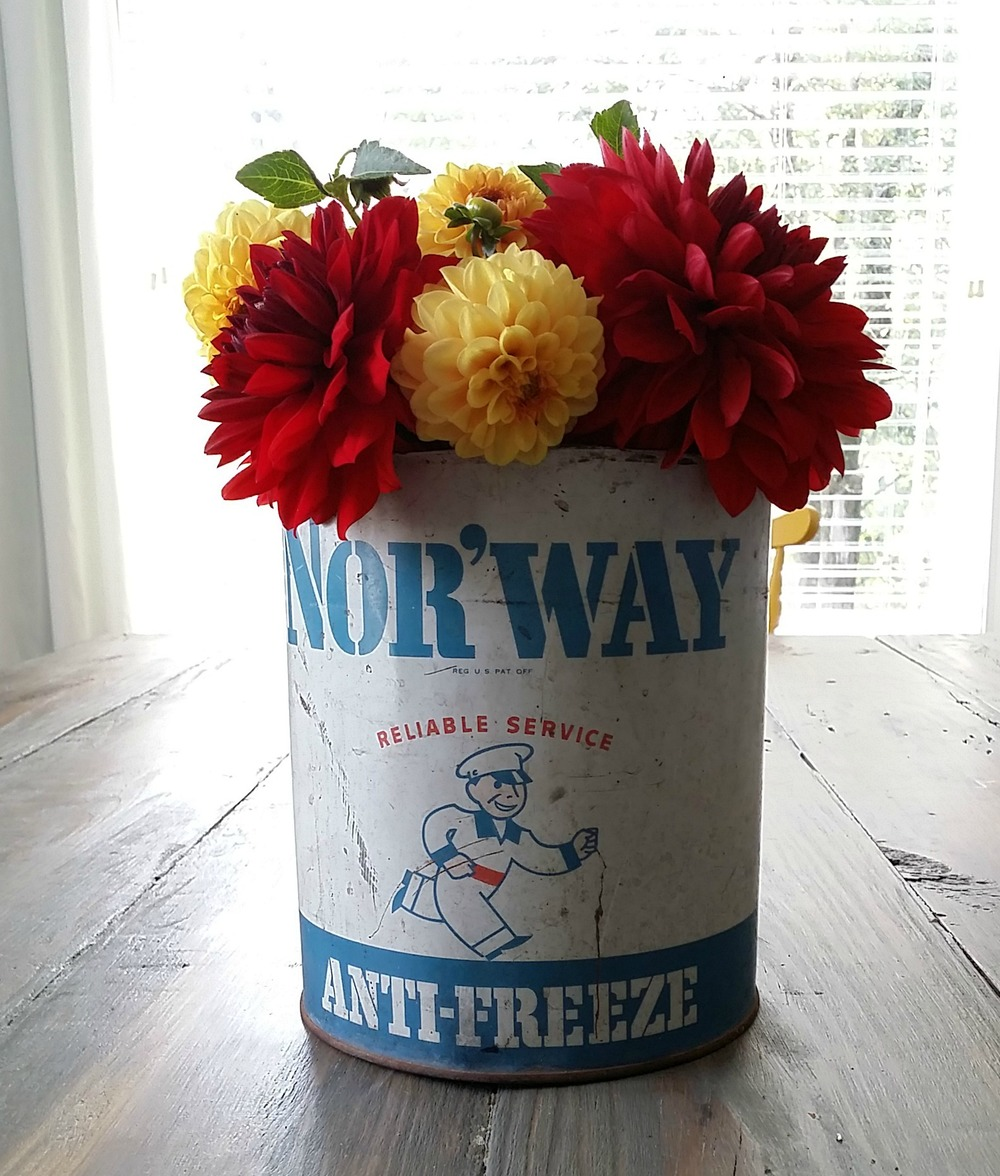 Vintage Can Turned Vase