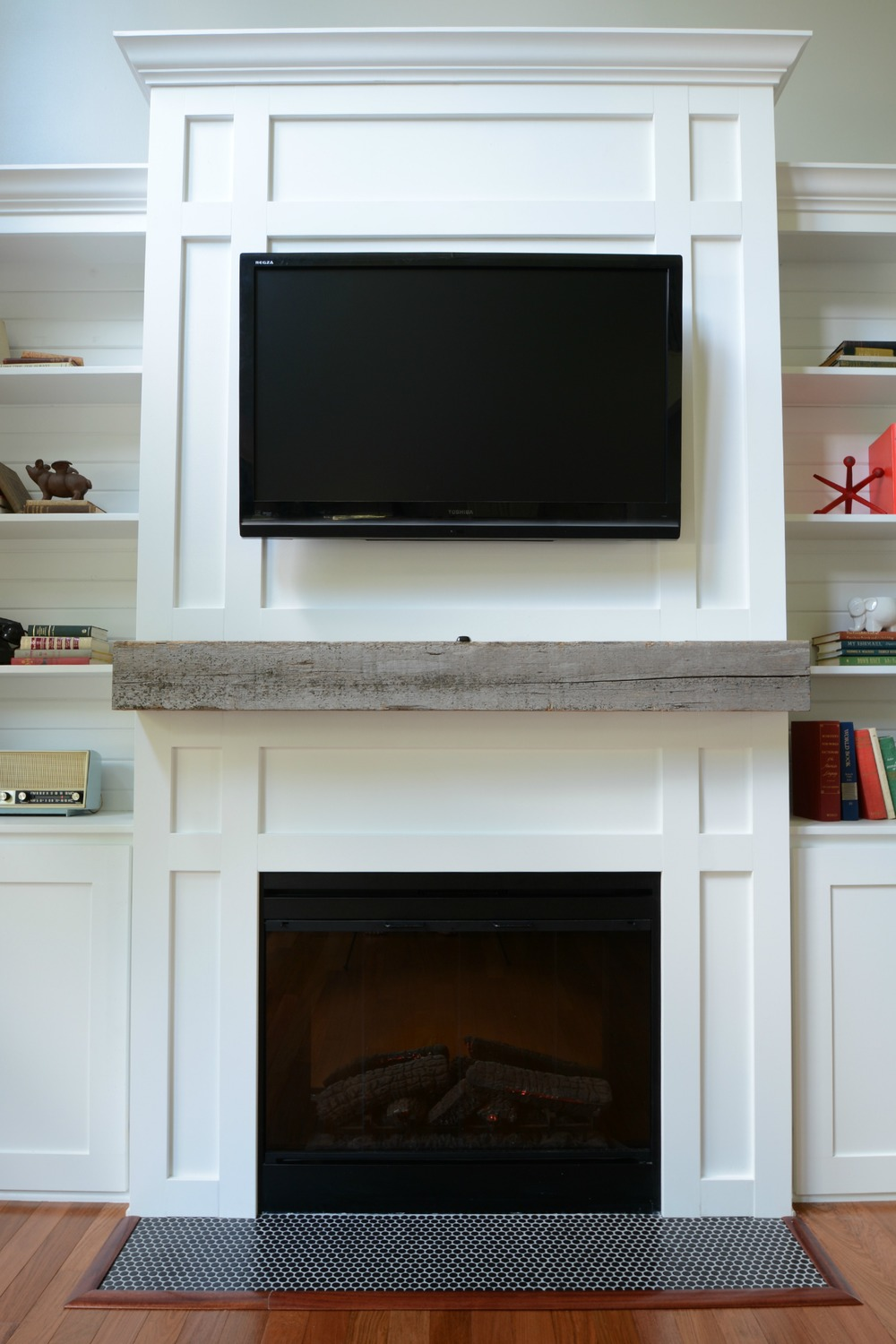 How Install A Barn Beam Mantel Decor And The Dog