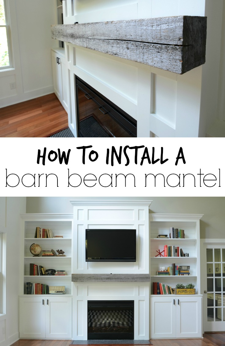 Learn how to install a barn beam mantel!