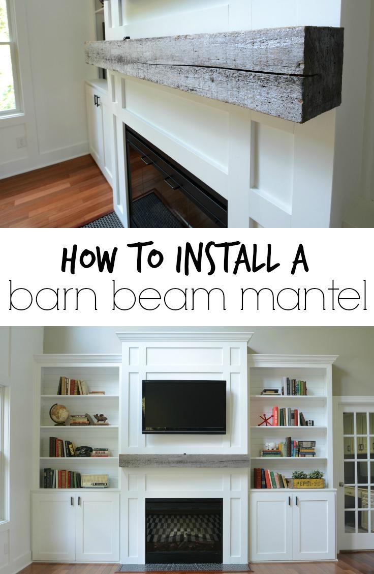 How Install A Barn Beam Mantel Decor And The Dog