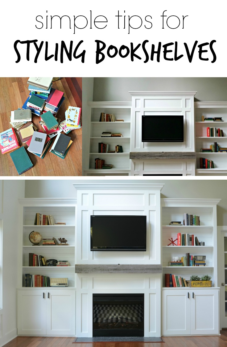 How to Decorate Bookshelves.  Learn how with these simple tips!