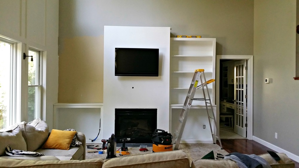 Living Room BuiltIns Tutorial Cost Decor And The Dog