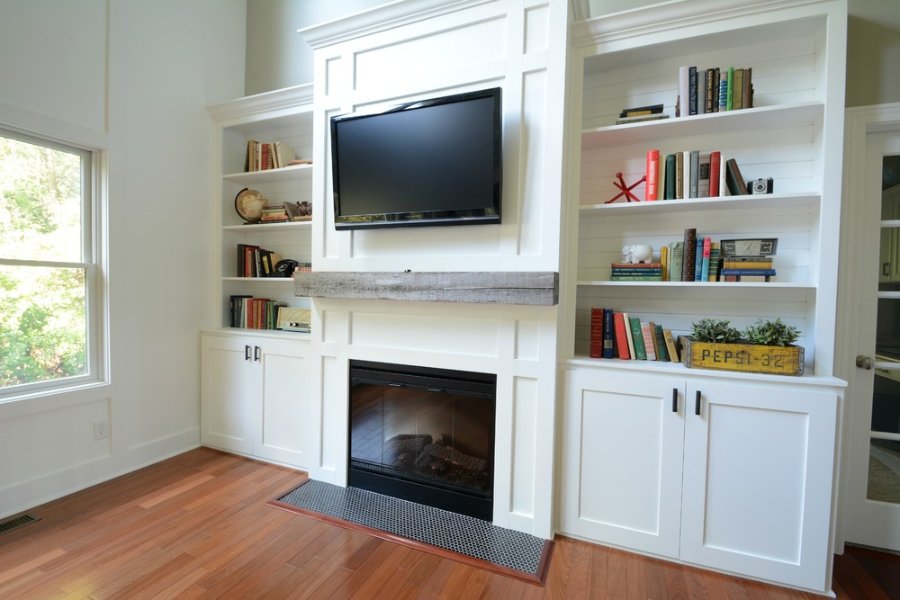 living room built in cabinetry 1