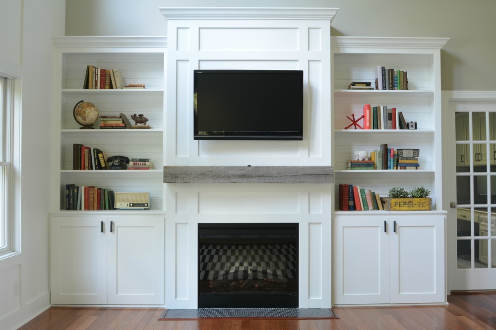 living room built ins tutorial - Living Room Cabinet