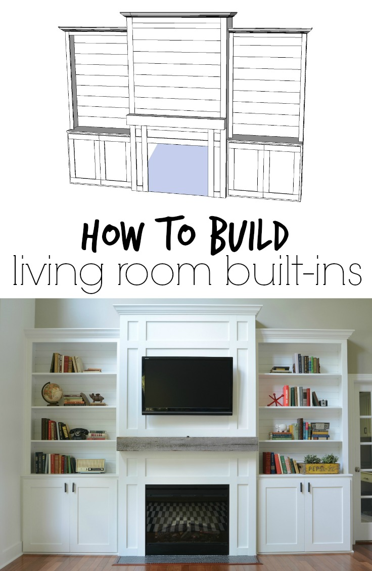 "Living Room Built Ins living room built-ins ""tutorial"" + cost — decor and the dog"