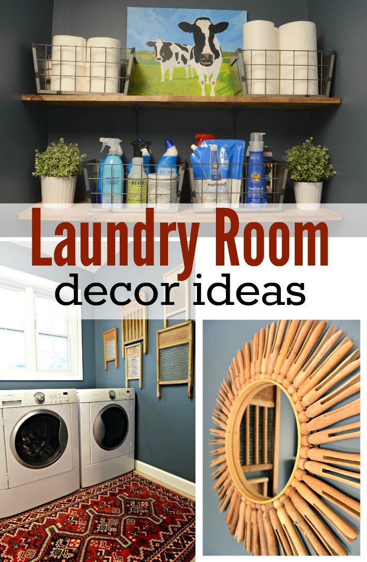 Laundry room makeover reveal decor and the dog for Decorate a laundry room