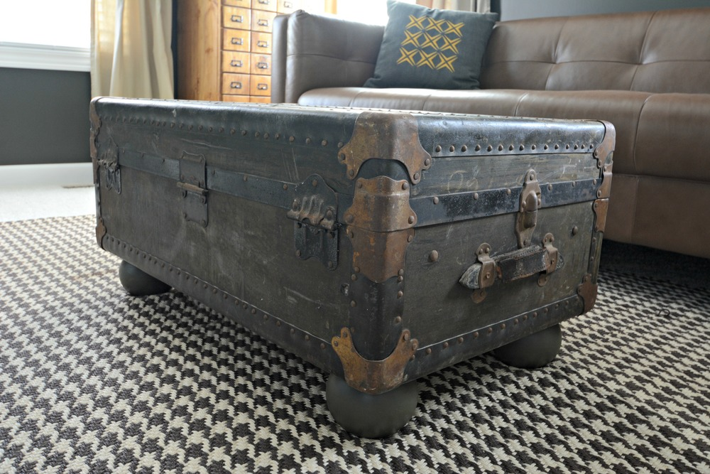 Vintage Trunk Turned Coffee Table Decor And The Dog