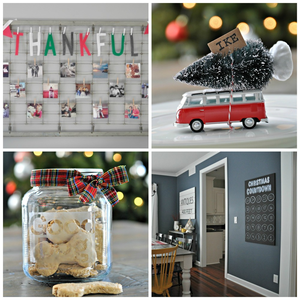 Thankful Banner ,  Bottlebrush Placecard ,  Dog Treat Jar ,  Christmas Countdown
