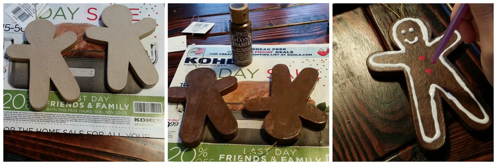 Dare to DIY {Gingerbread Man Place Card Holder}