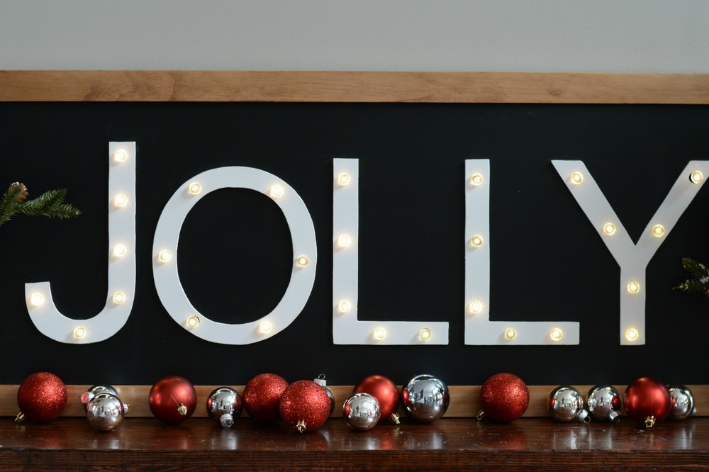 How to make a holiday marquee. Tutorial.