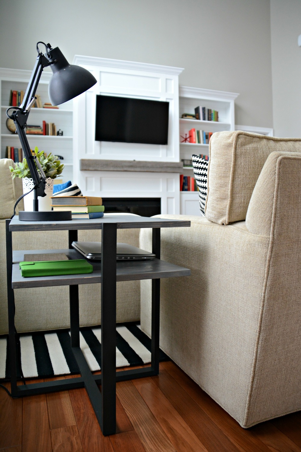 Diy Living Room End Table Decor And The Dog