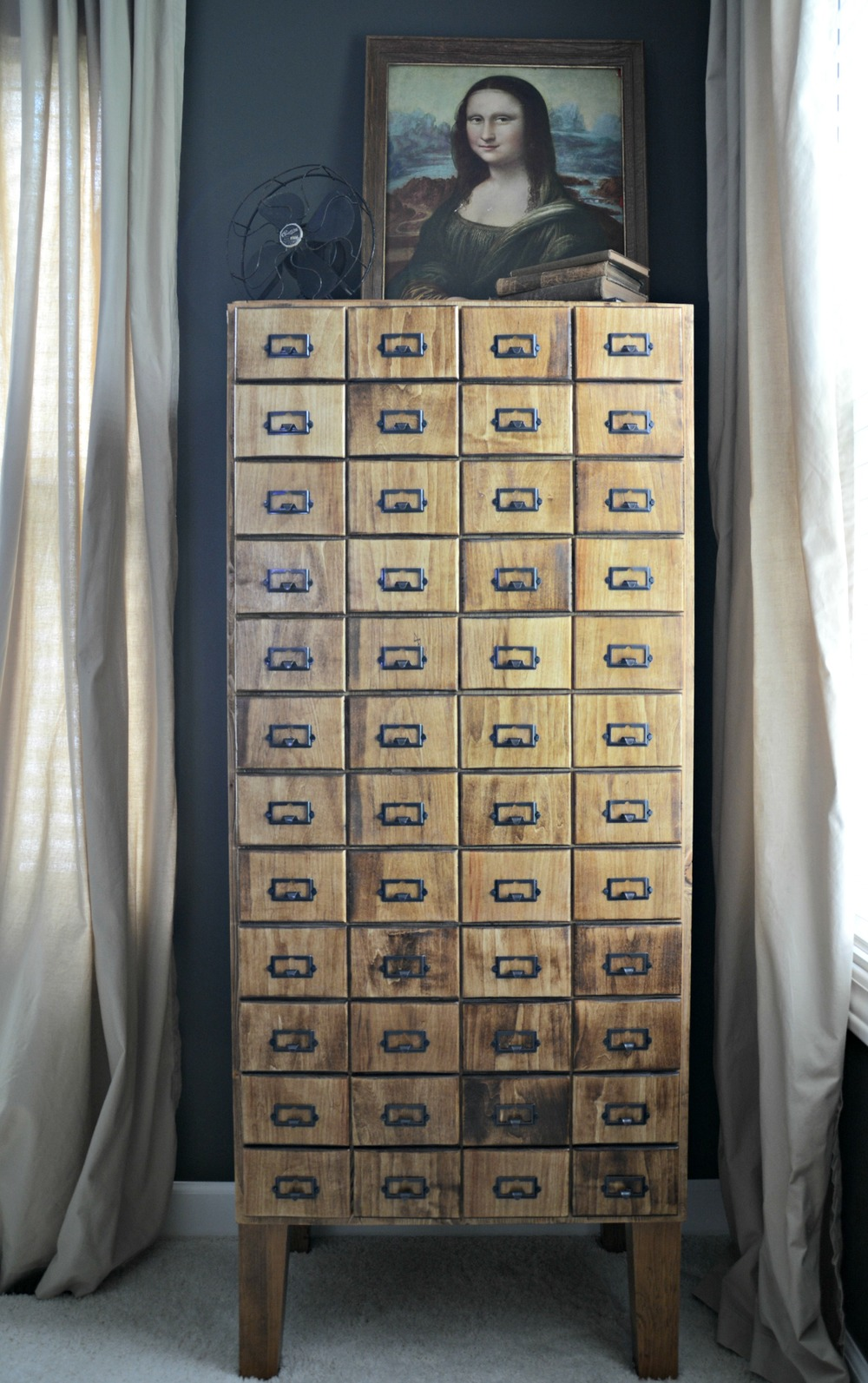 DIY Card Catalog Cabinet