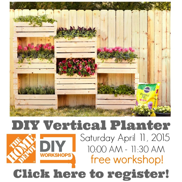 How To Build A Vertical Planter {The Home Depot DIY