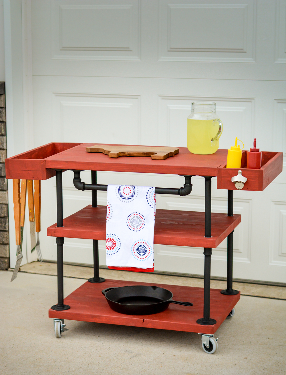 How to build a grill cart the home depot diy workshop - Coleman small spaces bbq decoration ...