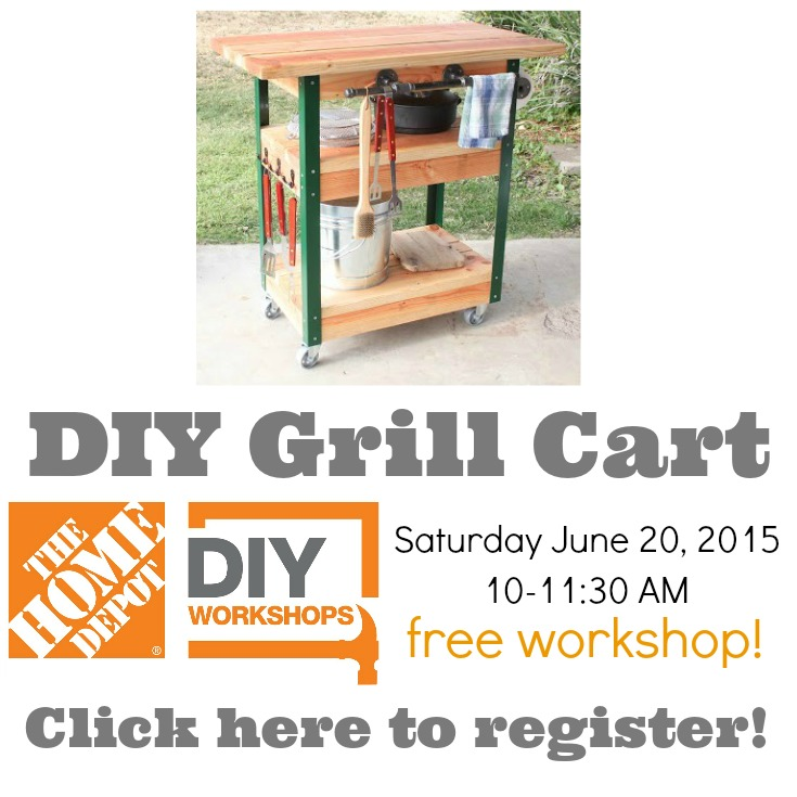 How To Build a Grill Cart {The Home Depot DIY Workshop} — Decor ...