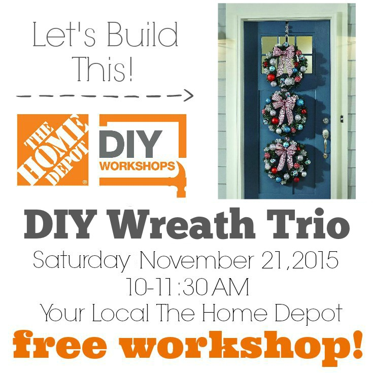 the home depot holiday diy workshop save the date decor and the dog - Home Depot Holiday