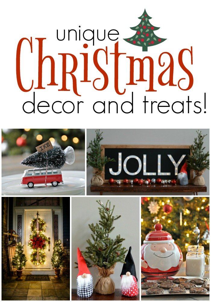 unique Christmas decor and the treats