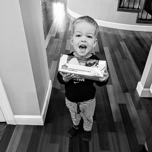 """Mama! I bought these donuts for you. You gotta share. DON'T EAT THEM ALL."" Mother's Day, man. ❤️😂❤️"