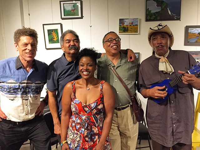 Members of the Afro-Métis Nation from Wednesday's crowdfunding launch event at A Different Booklist Cultural Centre in Toronto. Great music and discussion! If you're interested in learning more or supporting the album and documentary film, please check the link in my bio. (From left to right: Chris White, Russ Kelly, Shelley Hamilton, Geore Elliott Clarke, Sugarplums Croxen) #afrometis #indigenous #black #novascotia #canada #documentary