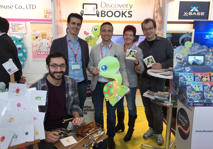 me and the discovery book's team at the toy fair in nuremberg