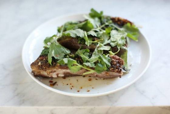 Lamb ribs with Charmoula and Honey at Estela